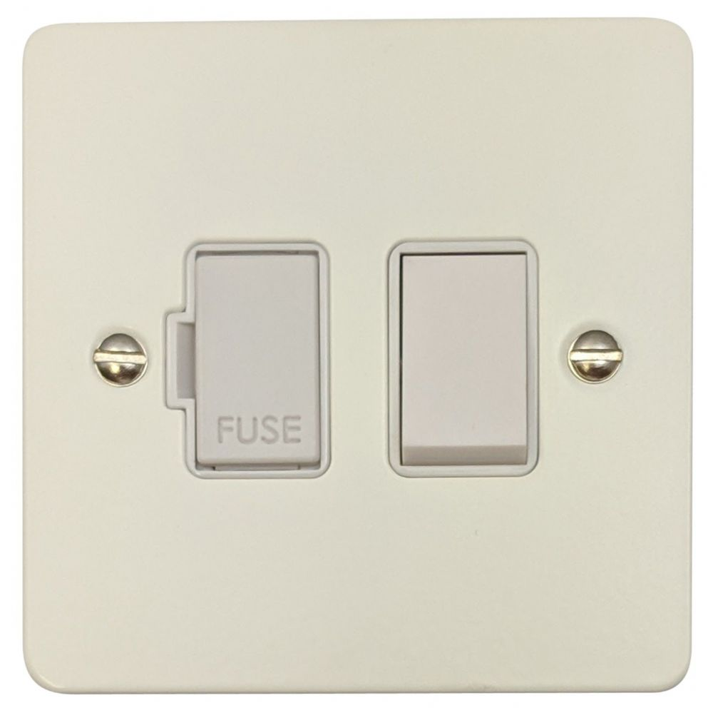 G&H FW57W Flat Plate Matt White 1 Gang Fused Spur 13A Switched